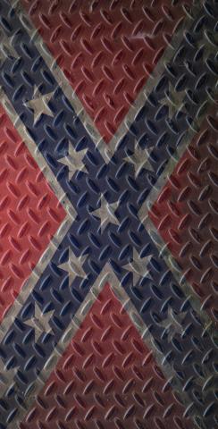 Diamond Plate Rebel / Confederate Flag Themed Custom Cornhole Boards Design