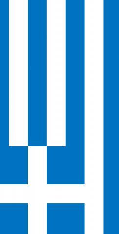 Greece National Flag Themed Custom Cornhole Board Design