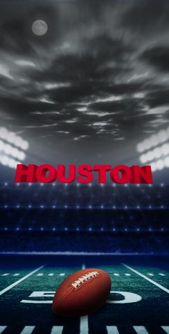 Houston Football Themed Custom Cornhole Board Design