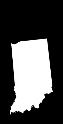 Black Indiana Themed Custom Cornhole Board Design