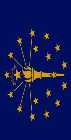 Indiana State Flag Themed Custom Cornhole Board Design