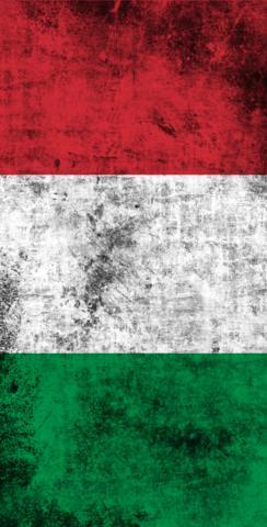 Worn National (Italy) Flag Themed Custom Cornhole Board Design