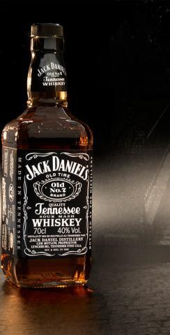 Jack Daniels Themed Custom Cornhole Board Design