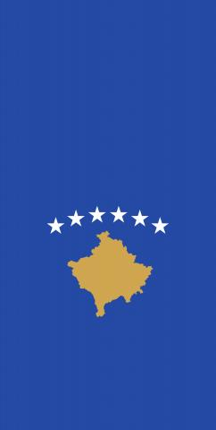 Kosovo National Flag Themed Custom Cornhole Board Design