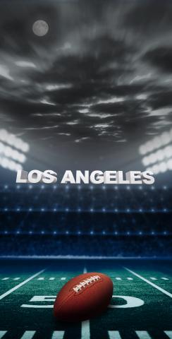 Los Angeles 1 Football Themed Custom Cornhole Board Design