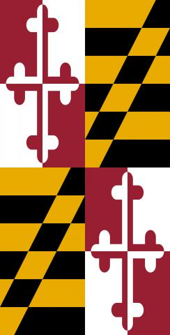 Maryland State Flag Themed Custom Cornhole Board Design