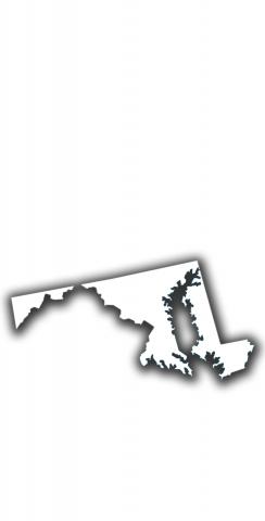 White Maryland Themed Custom Cornhole Board Design