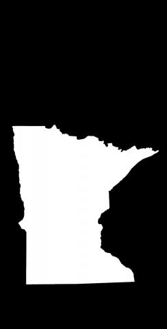 Black Minnesota Themed Custom Cornhole Board Design