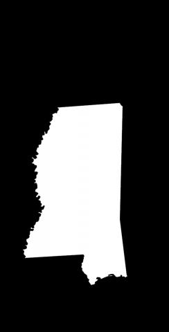 Black Mississippi Themed Custom Cornhole Board Design