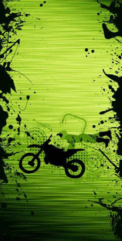 Motocross / Dirt Bike Themed Custom Cornhole Board Design
