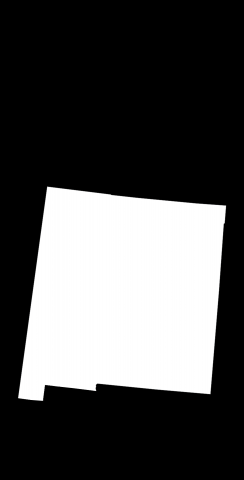Black New Mexico Themed Custom Cornhole Board Design