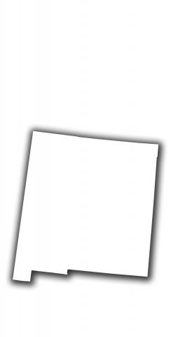 White New Mexico Themed Custom Cornhole Board Design