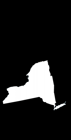 Black New York Themed Custom Cornhole Board Design