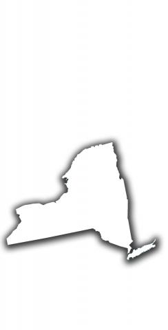 White New York Themed Custom Cornhole Board Design