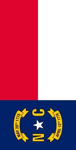 North Carolina State Flag Themed Custom Cornhole Board Design