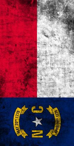 Worn State (North Carolina) Flag Themed Custom Cornhole Board Design
