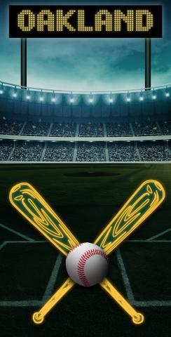 Oakland Baseball Themed Custom Cornhole Board Design