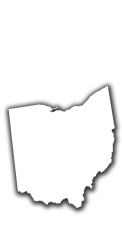 White Ohio Themed Custom Cornhole Board Design