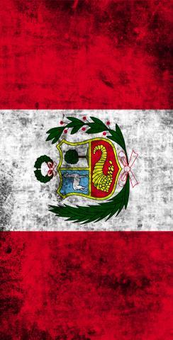 Worn National (Peru) Flag Themed Custom Cornhole Board Design
