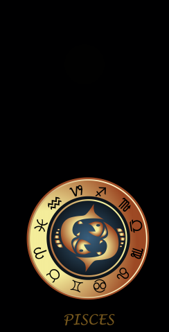 Zodiac Black (Pisces) Themed Custom Cornhole Board Design