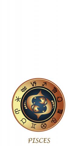 Zodiac White (Pisces) Themed Custom Cornhole Board Design