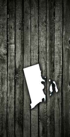 Wood Slat State (Rhode Island) Themed Custom Cornhole Board Design