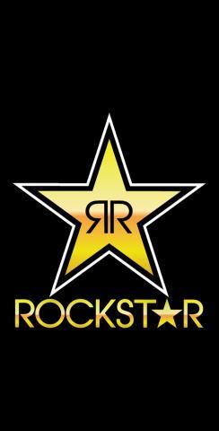 Rockstar Energy Drink Themed Custom Cornhole Board Design