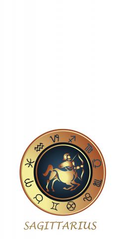 Zodiac White (Sagittarius) Themed Custom Cornhole Board Design