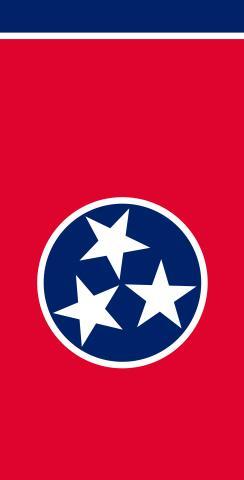 Tennessee State Flag Themed Custom Cornhole Board Design