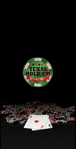 Texas Hold'em No Limit Themed Custom Cornhole Board Design