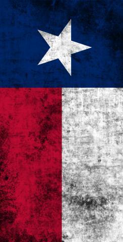 Worn State (Texas) Flag Themed Custom Cornhole Board Design