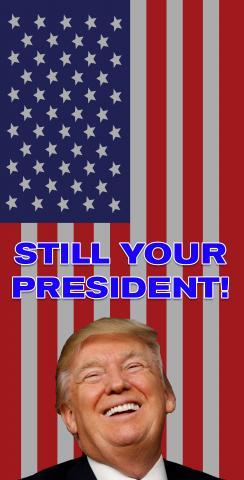 Trump - Still Your President Themed Custom Cornhole Board Design