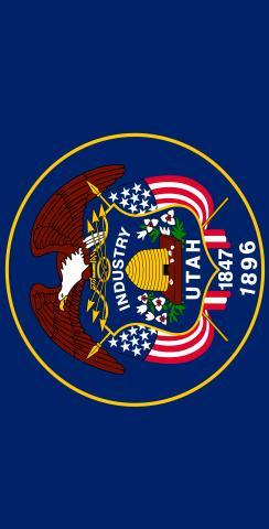 Utah State Flag Themed Custom Cornhole Board Design