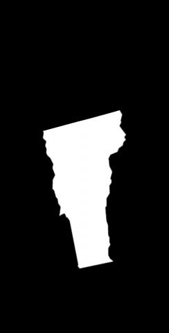 Black Vermont Themed Custom Cornhole Board Design