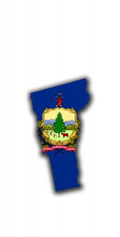 Vermont State Flag Outline (White Background) Themed Custom Cornhole Board Design