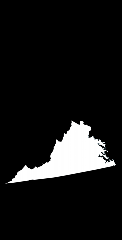 Black Virginia Themed Custom Cornhole Board Design
