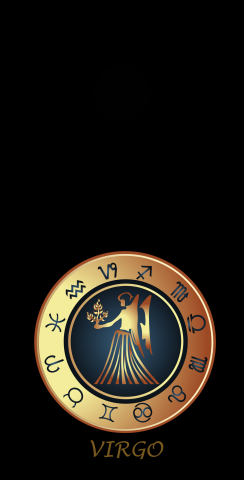 Zodiac Black (Virgo) Themed Custom Cornhole Board Design