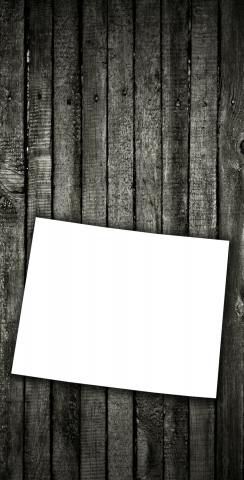 Wood Slat State (Wyoming) Themed Custom Cornhole Board Design