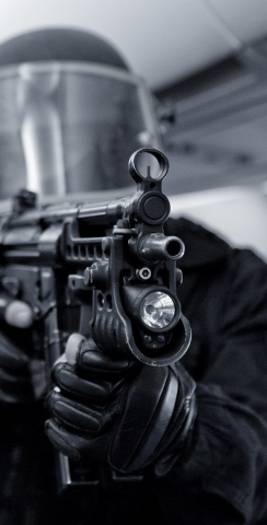 SWAT Team Member Themed Custom Cornhole Board Design