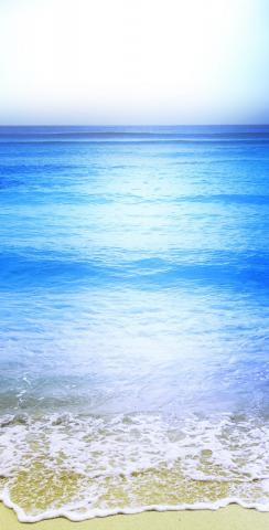 Beach Clear Water Themed Custom Cornhole Board Design