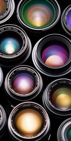Camera Lenses Themed Custom Cornhole Board Design