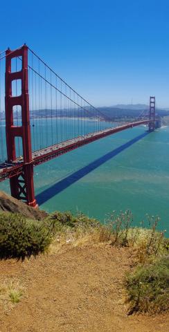Golden Gate Bridge Themed Custom Cornhole Board Design