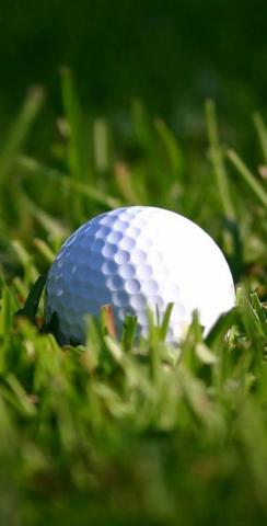 Golf Ball Themed Custom Cornhole Board Design
