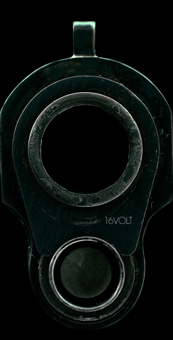 Gun Barrel Themed Custom Cornhole Board Design