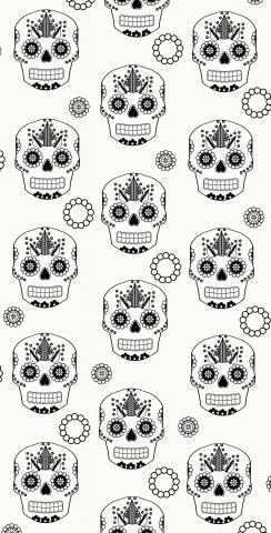 Sugar Skull Themed Custom Cornhole Board Design