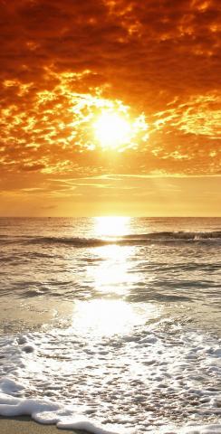 Beach Sunset 2 Themed Custom Cornhole Board Design
