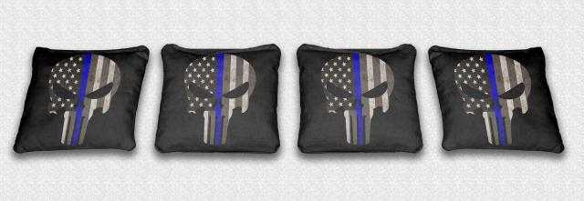Blue Line Punisher Solid Black