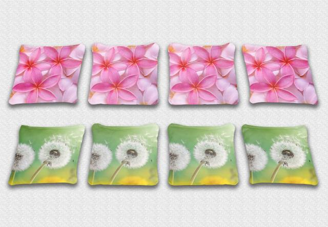 Daisy Themed premium specialty custom cornhole bags made right here in the USA!