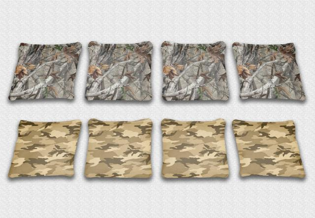 Dry Camo Themed premium specialty custom cornhole bags made right here in the USA!