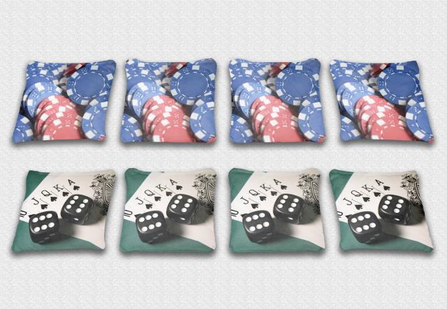 Gamble Themed premium specialty custom cornhole bags made right here in the USA!
